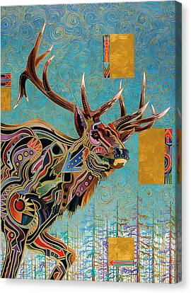 Not In Use Canvas Print - Southwestern Elk by Bob Coonts