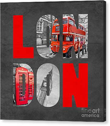 Souvenir Of London Canvas Print