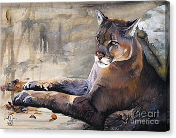 Indigenous Wildlife Canvas Print - Sovereign by J W Baker