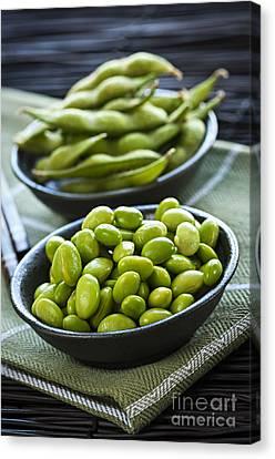Boiled Canvas Print - Soy Beans  by Elena Elisseeva