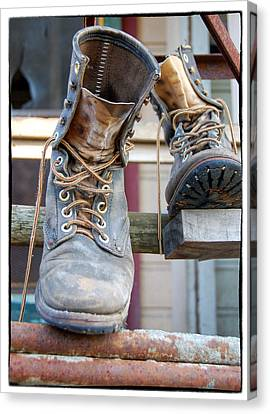 Sp Boots Canvas Print