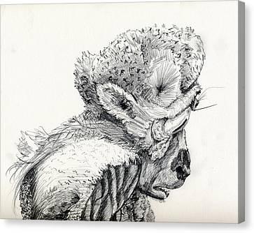 Space Alien Canvas Print by Whistler Kenworthy