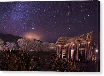Space And Time Canvas Print by Cat Connor