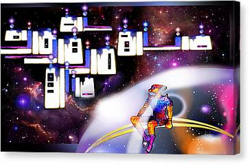 Space  City Canvas Print by Hartmut Jager