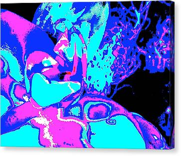 Space Collision Canvas Print