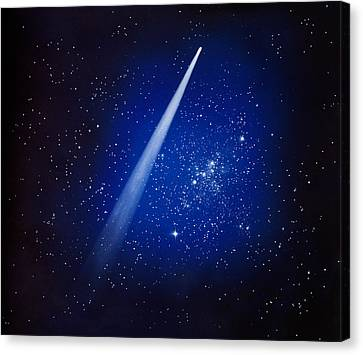 Space, Comet And Stars Canvas Print by Panoramic Images