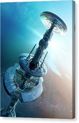 Outer Space Canvas Print - Space Craft by Victor Habbick Visions