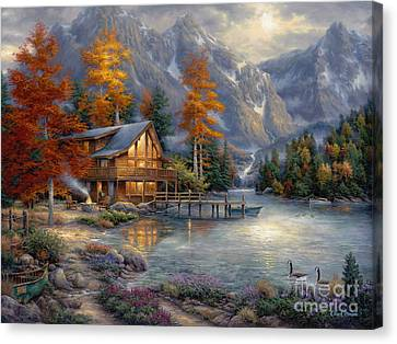 Color Canvas Print - Space For Reflection by Chuck Pinson