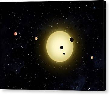 Space Kepler 11 Introduction Canvas Print by Movie Poster Prints