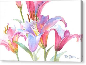 Space Mountain Lilies Canvas Print