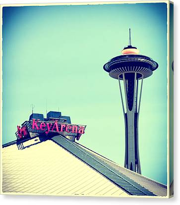 Space Needle And Key Arena Canvas Print