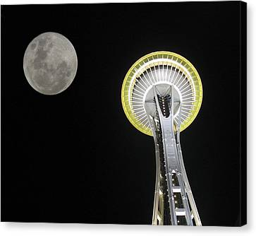 Space Needle Canvas Print by David Gleeson
