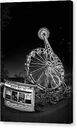 Space Needle Fights The End Of The World Canvas Print