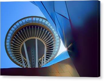 Space Needle From Emp Museum Canvas Print