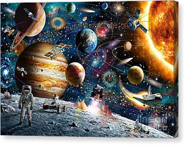 Space Odyssey Canvas Print by Adrian Chesterman