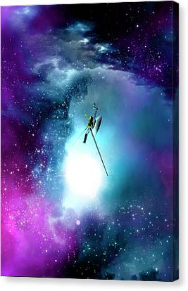 Space Probe In Outer Space Canvas Print by Victor Habbick Visions