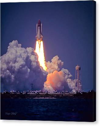 Space Shuttle Challenger Sts-6 First Flight 1983 Photo 1  Canvas Print by Marie Hicks