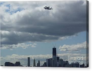Space Shuttle Enterprise Flys Over Nyc Canvas Print by Steven Spak