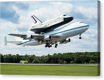 Space Shuttle Enterprise Piggyback Flight Canvas Print by Nasa/smithsonian Institution/mark Avino