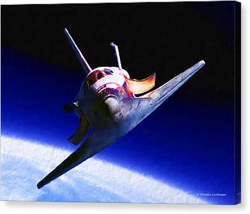 Space Shuttle Head On Canvas Print
