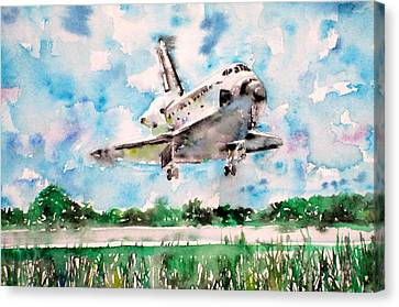 Space Shuttle Landing Canvas Print by Fabrizio Cassetta