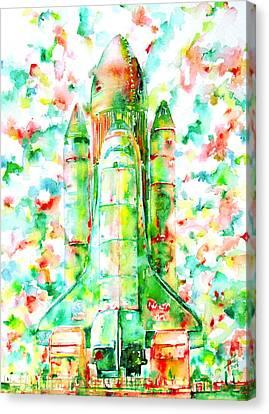 Space Shuttle - Launch Pod Canvas Print by Fabrizio Cassetta