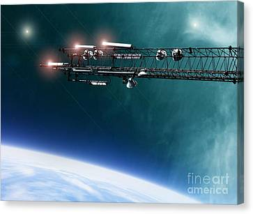 Space Station Communications Antenna Canvas Print