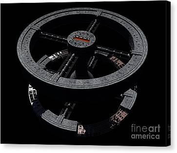 Space Station From 2001 A Space Odyssey Canvas Print by Rhys Taylor