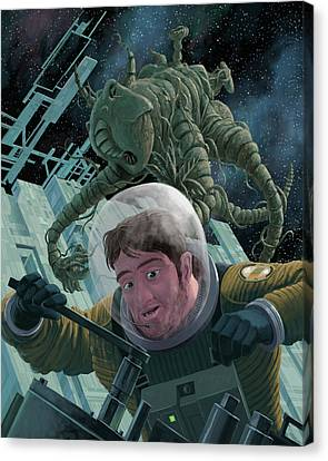 Space Station Monster Canvas Print by Martin Davey