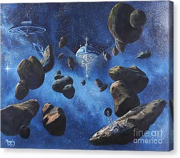 Space Station Outpost Twelve Canvas Print by Murphy Elliott
