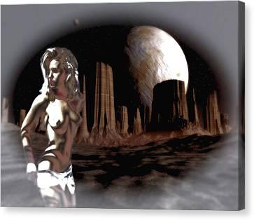 Space Stripper Canvas Print by Mario Carini