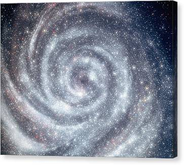 Space, Swirling Galxy Canvas Print by Panoramic Images