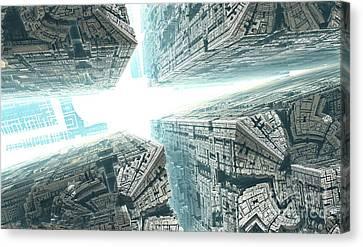 Space Travel Canvas Print by Bernard MICHEL