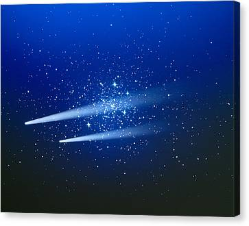 Space, Two Comets Canvas Print by Panoramic Images