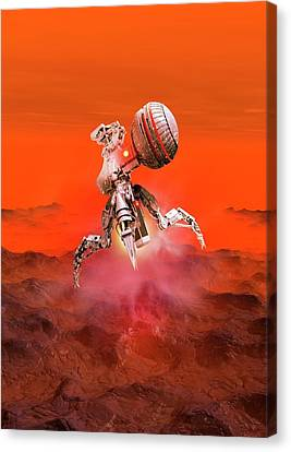 Outer Space Canvas Print - Space Vehicle Landing by Victor Habbick Visions