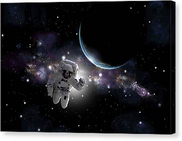 Outer Space Canvas Print - Space Walk  by Marc Ward