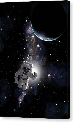 Outer Space Canvas Print - Space Walk  No.1v by Marc Ward