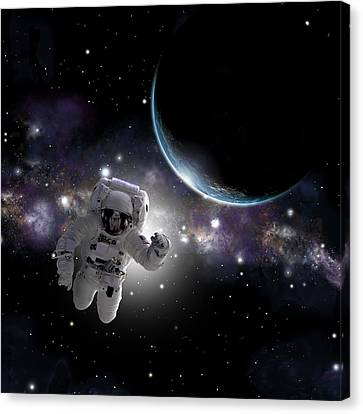 Outer Space Canvas Print - Space Walk No.2 by Marc Ward