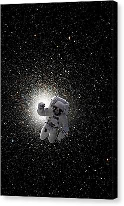 Outer Space Canvas Print - Space Walk No.5v by Marc Ward
