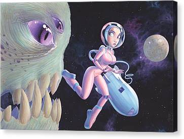Space Walk Canvas Print by Richard Moore