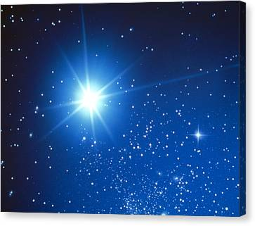 Space With Starburst Canvas Print by Panoramic Images