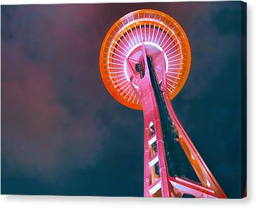 Spaced Needle Canvas Print by Michael Wilcox