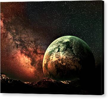 Spaced Out Canvas Print by Ally  White