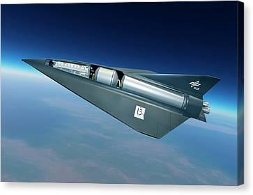 Spaceliner Transport Canvas Print by Detlev Van Ravenswaay