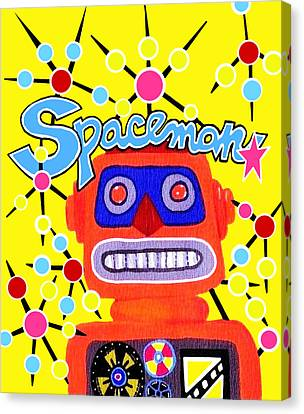 Spaceman  Canvas Print by Lynnda Rakos