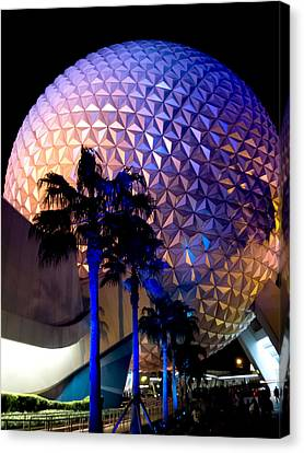 Spaceship Earth Canvas Print by Greg Fortier