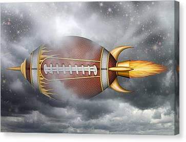 Spaceship Football Canvas Print by James Larkin