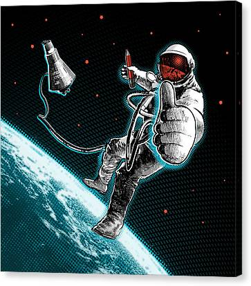 Spacewalk Good To Go Pillow Canvas Print