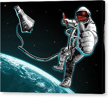 Spacewalk Good To Go Canvas Print