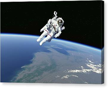 Spacewalk Canvas Print by Science Photo Library